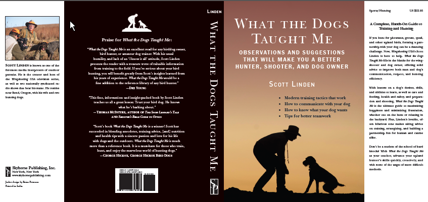 design a book jacket template - what the dogs taught me the book scott linden outdoors